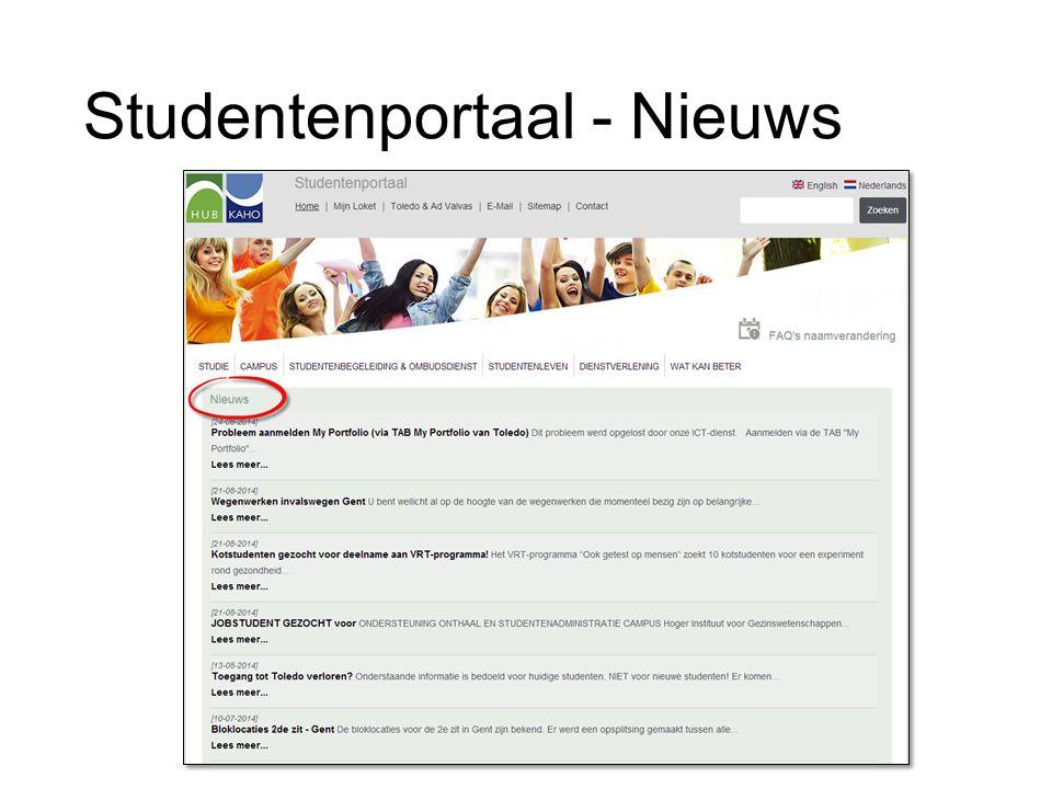 Studentenportaal - Nieuws