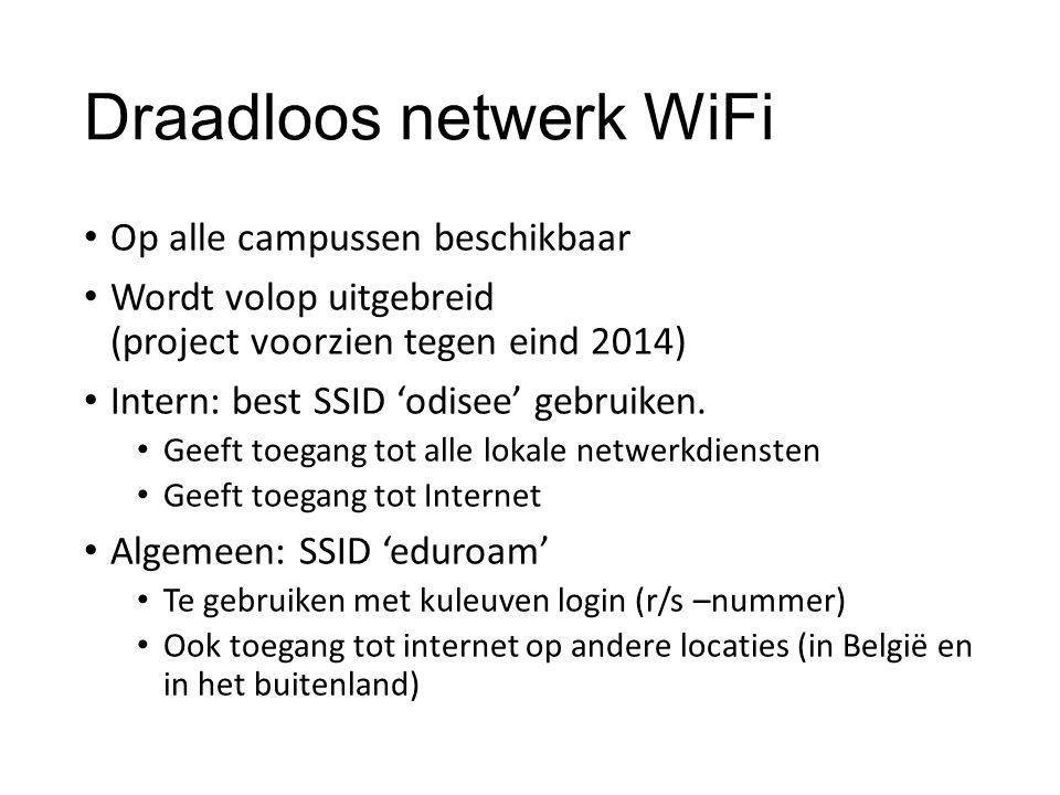Draadloos netwerk WiFi