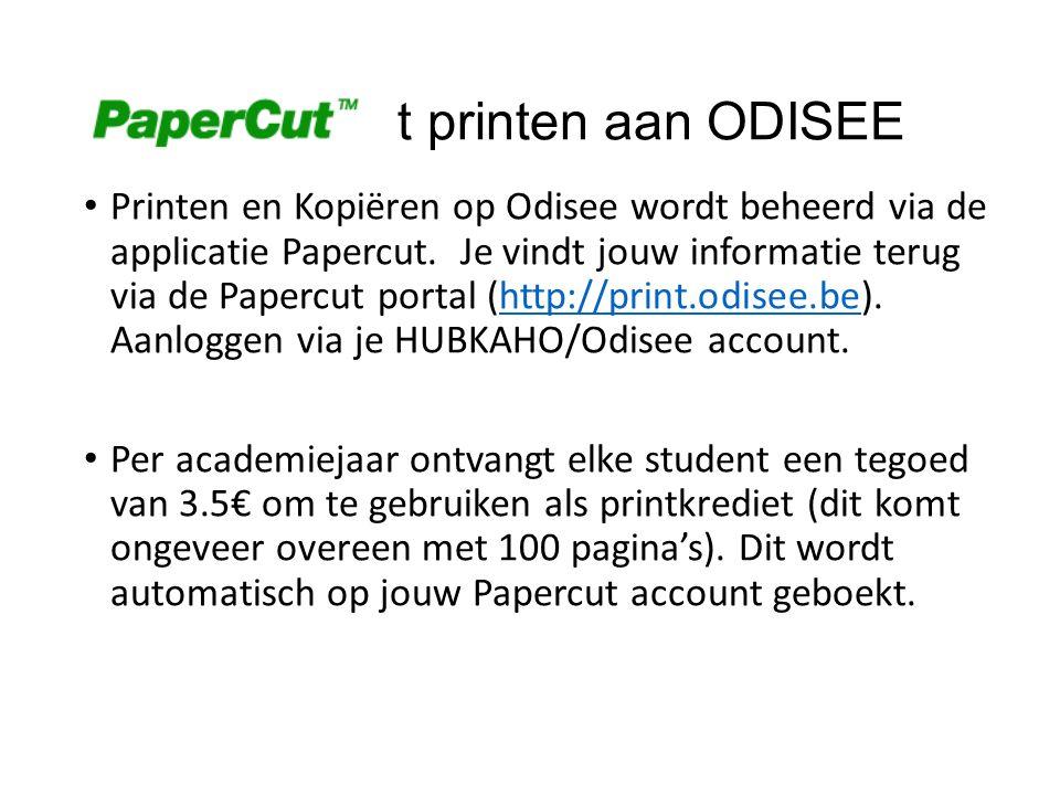 Papercu t printen aan ODISEE