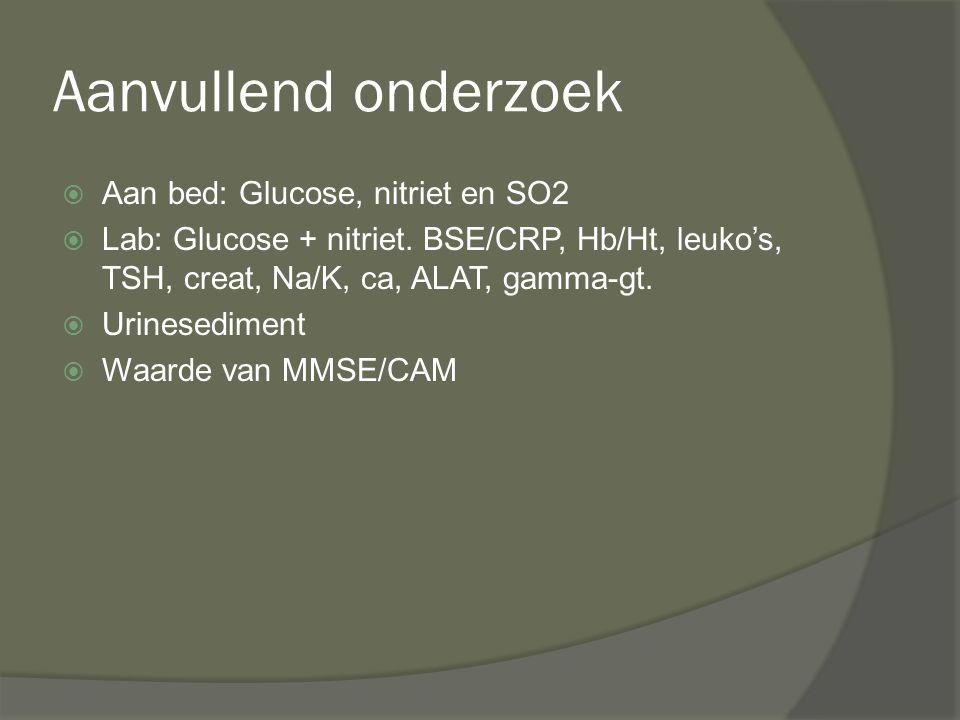 Aanvullend onderzoek Aan bed: Glucose, nitriet en SO2