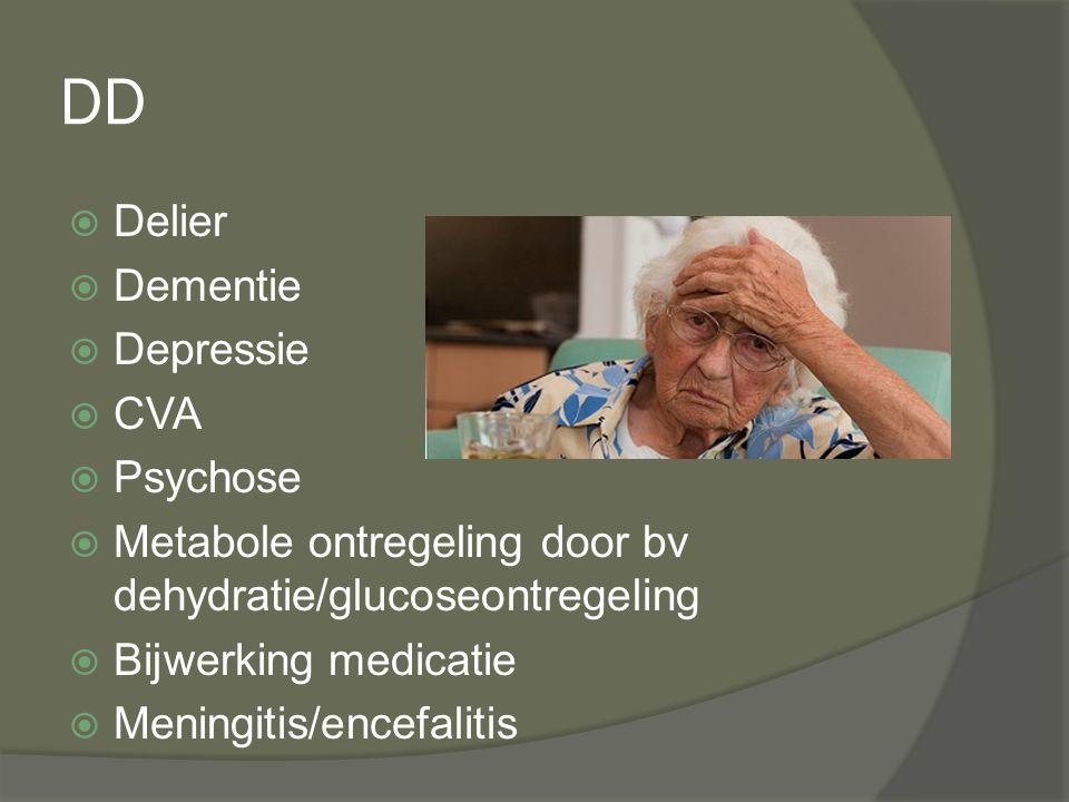 DD Delier Dementie Depressie CVA Psychose