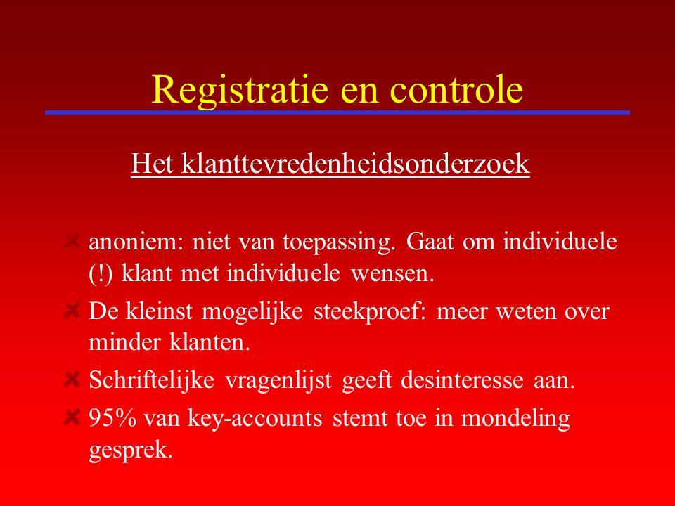 Registratie en controle