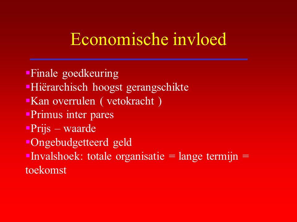 Economische invloed Finale goedkeuring