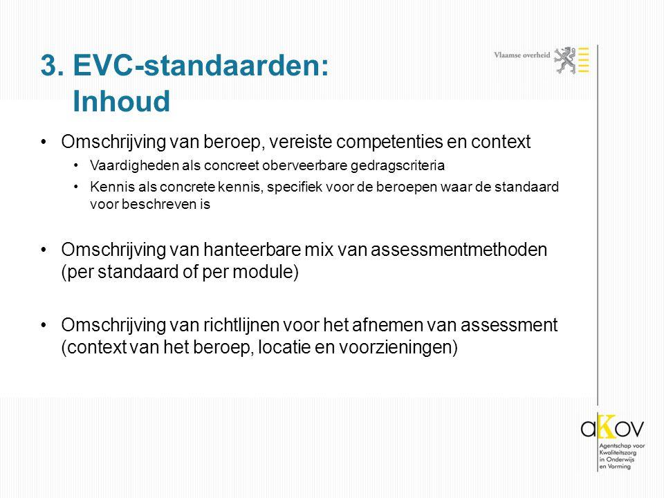 3. EVC-standaarden: Inhoud