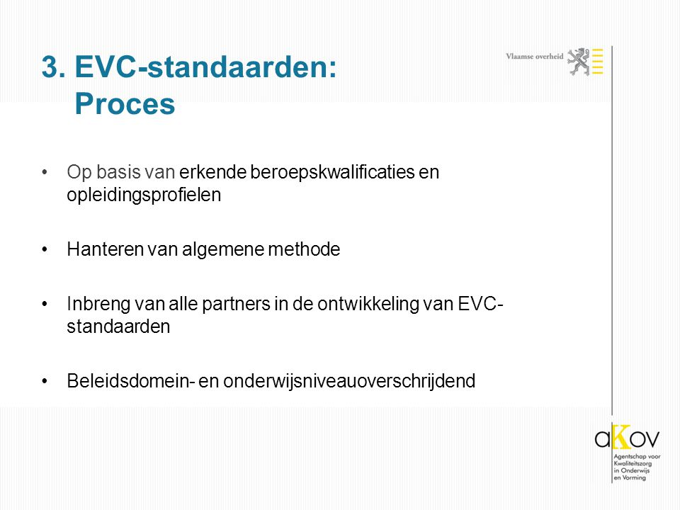 3. EVC-standaarden: Proces