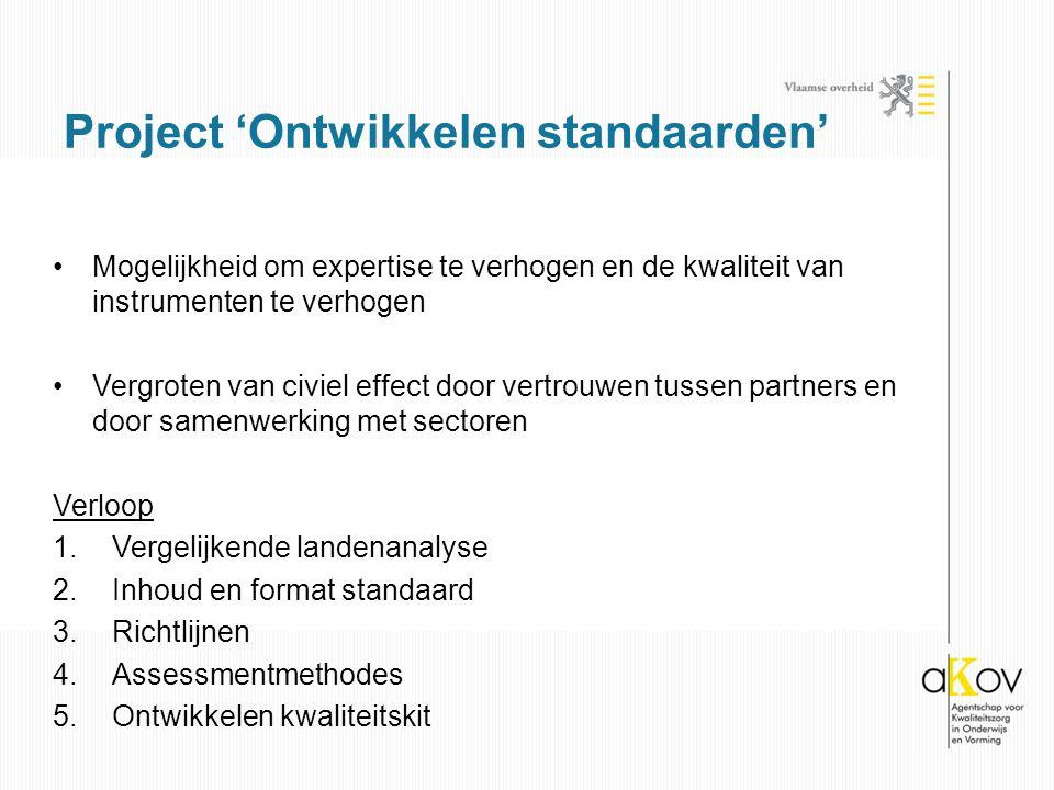 Project 'Ontwikkelen standaarden'