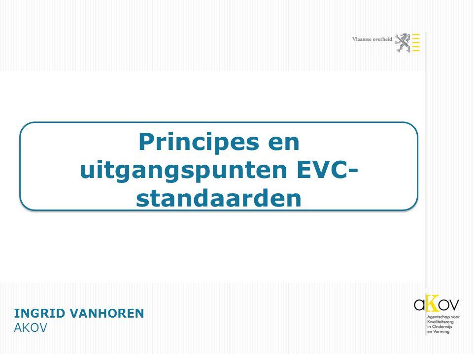 Principes en uitgangspunten EVC-standaarden