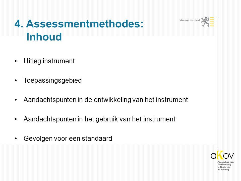 4. Assessmentmethodes: Inhoud