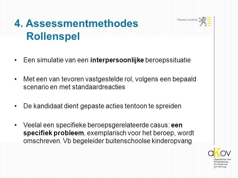 4. Assessmentmethodes Rollenspel