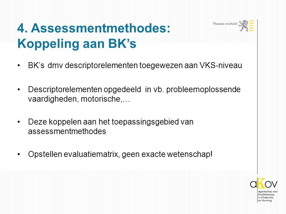 4. Assessmentmethodes: Koppeling aan BK's