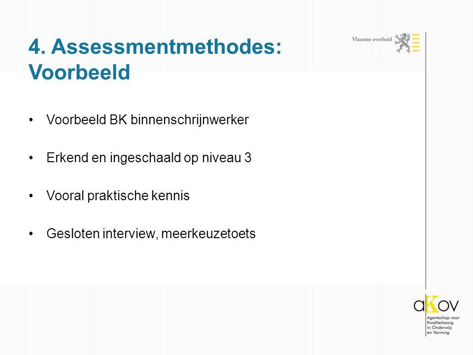 4. Assessmentmethodes: Voorbeeld