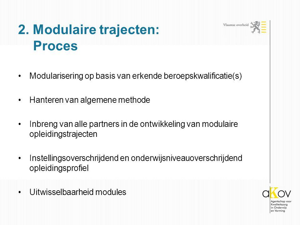 2. Modulaire trajecten: Proces