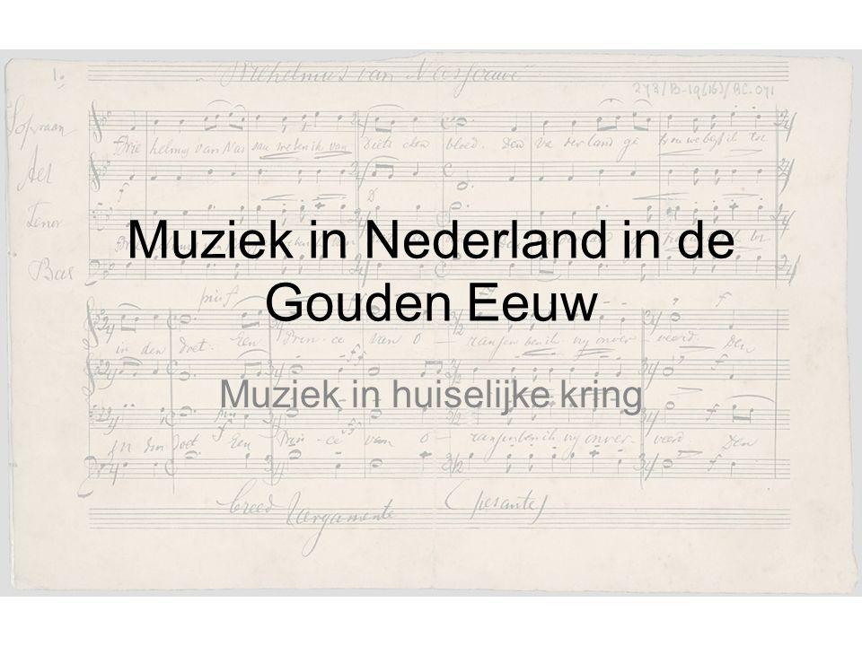 Muziek in Nederland in de Gouden Eeuw