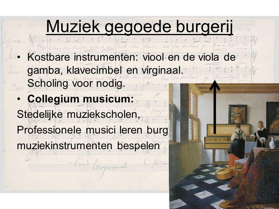 Muziek gegoede burgerij
