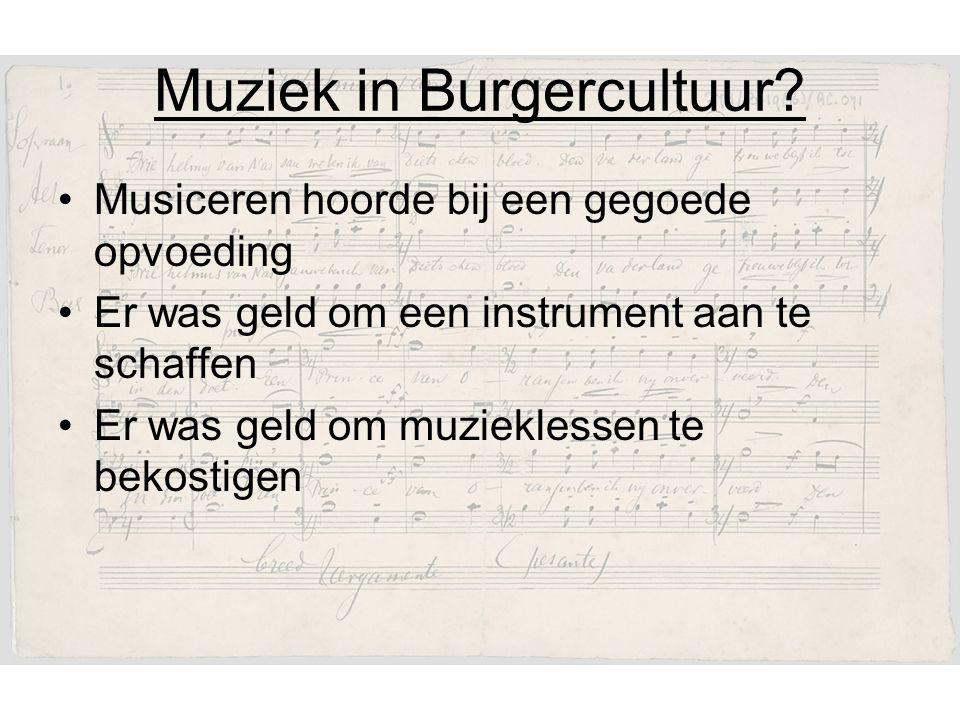 Muziek in Burgercultuur