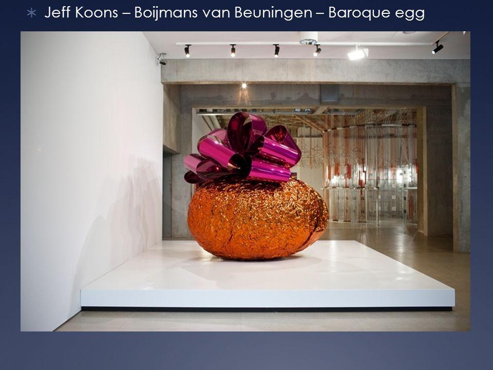 Jeff Koons – Boijmans van Beuningen – Baroque egg