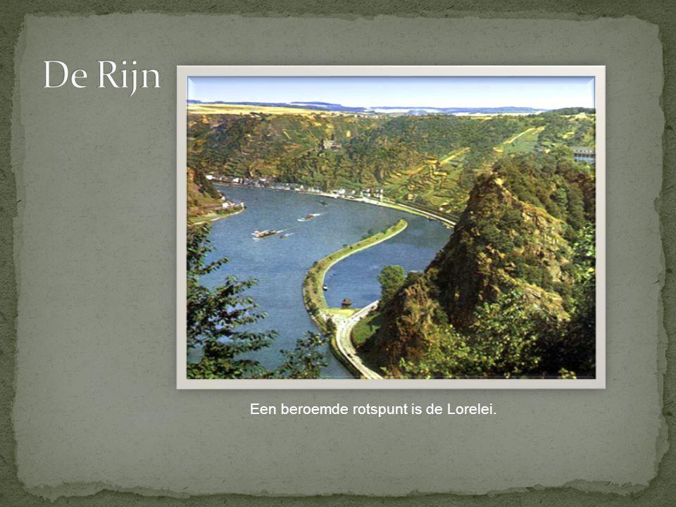De Rijn Een beroemde rotspunt is de Lorelei.
