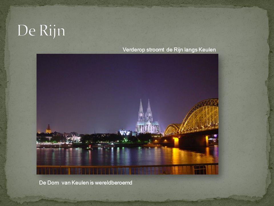 De Rijn Verderop stroomt de Rijn langs Keulen