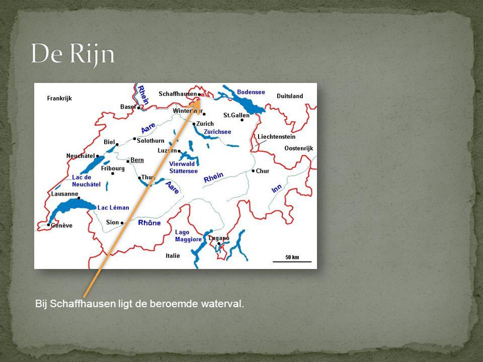 De Rijn Bij Schaffhausen ligt de beroemde waterval.
