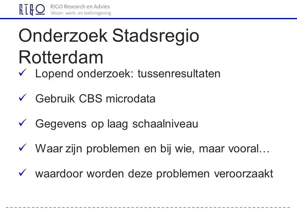 Onderzoek Stadsregio Rotterdam