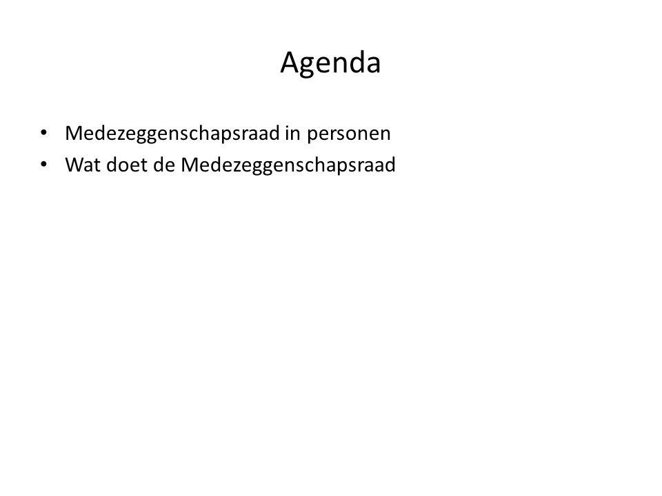 Agenda Medezeggenschapsraad in personen