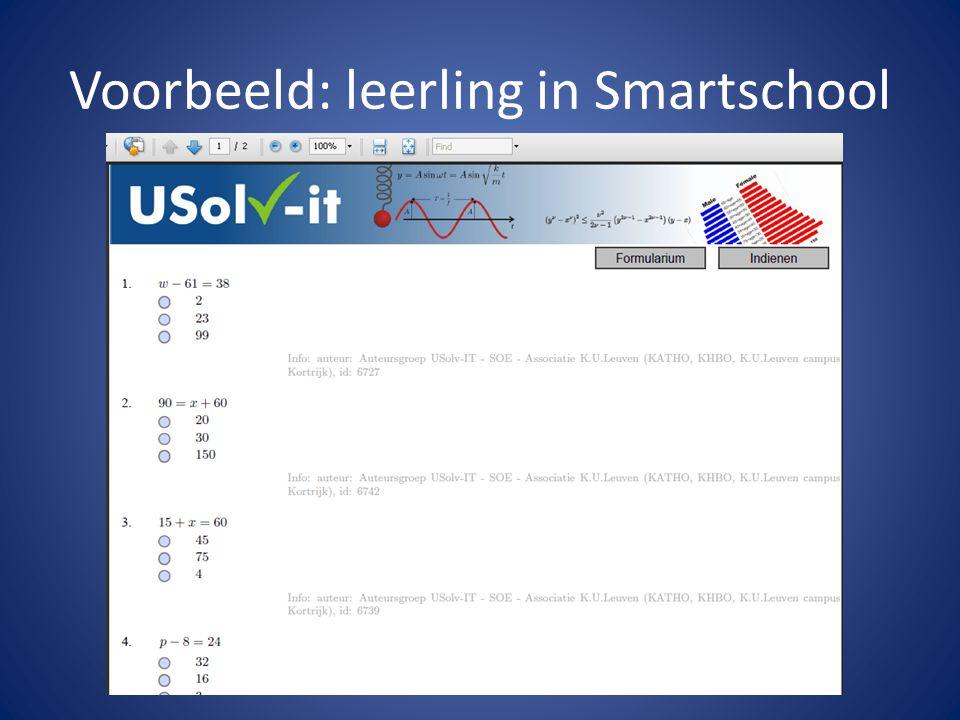 Voorbeeld: leerling in Smartschool