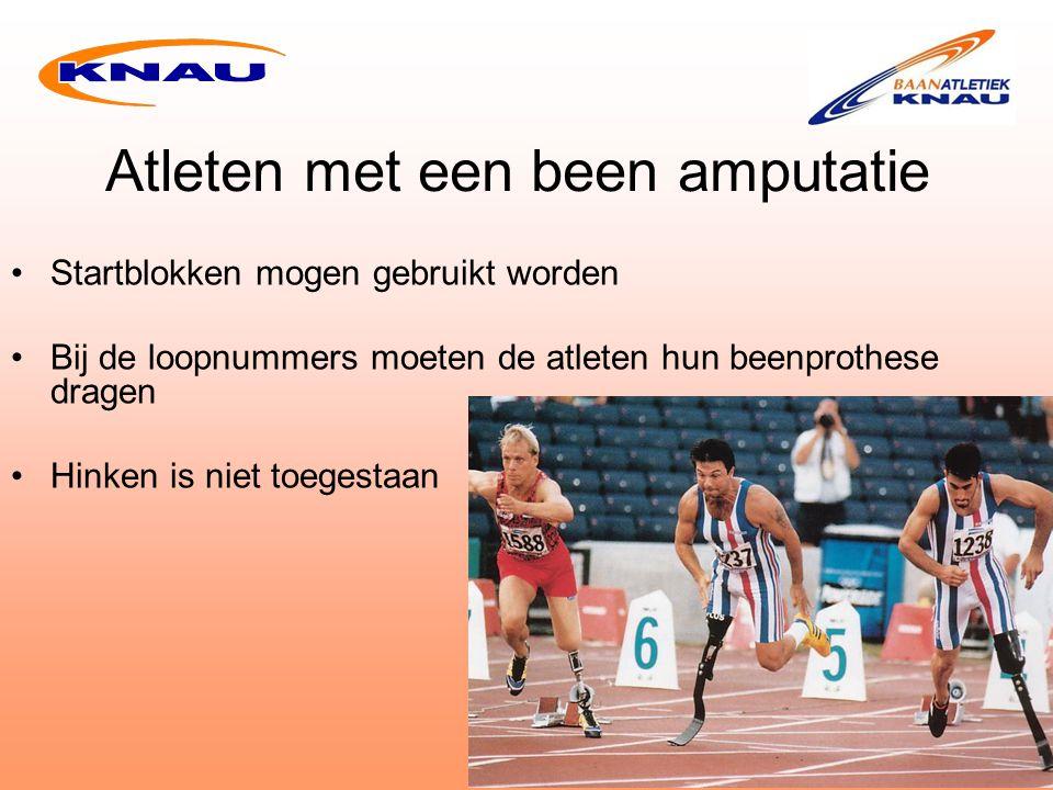 Atleten met een been amputatie