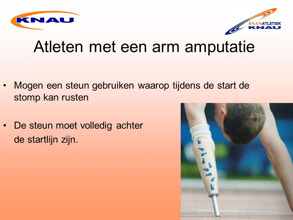 Atleten met een arm amputatie