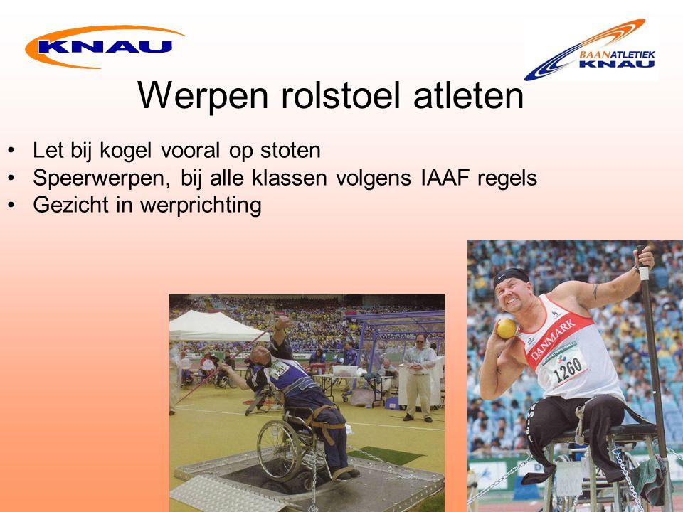 Werpen rolstoel atleten