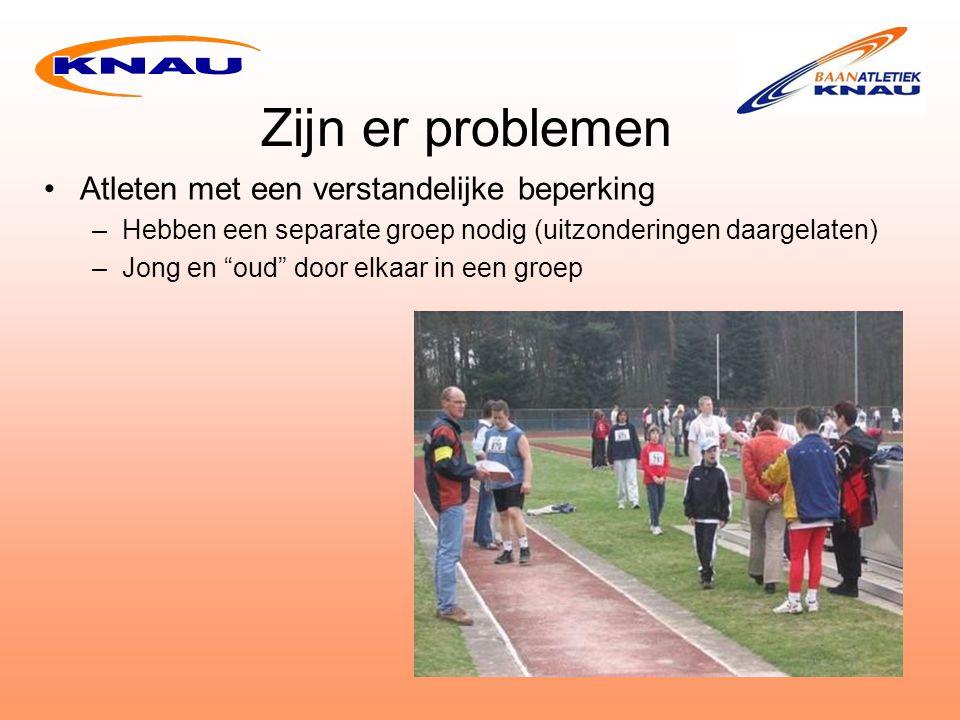 Zijn er problemen Atleten met een verstandelijke beperking