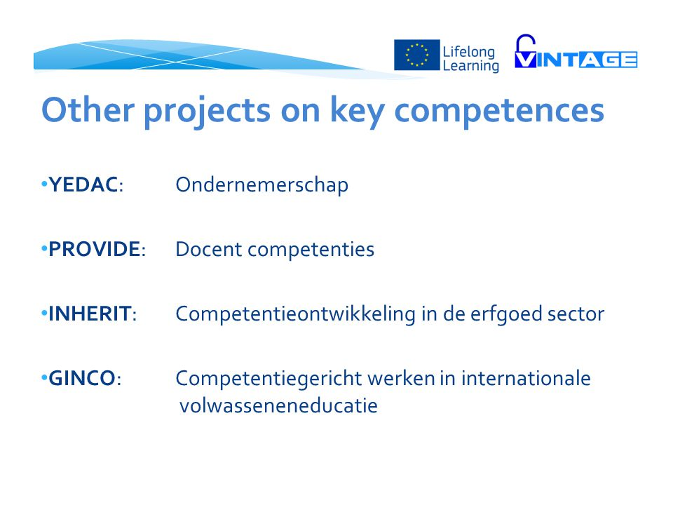 Other projects on key competences