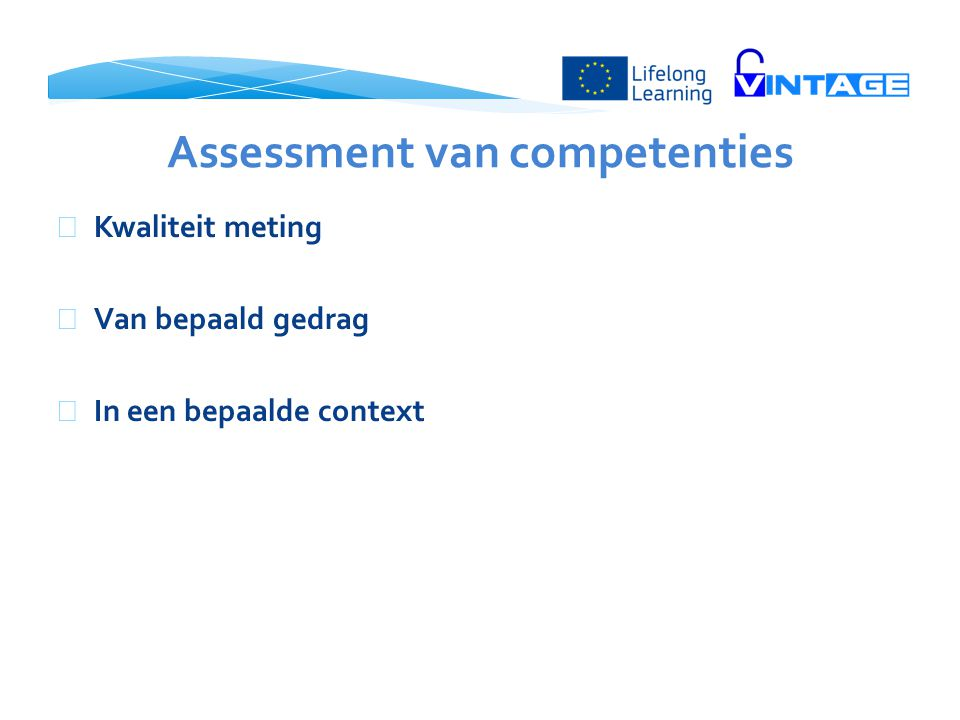 Assessment van competenties