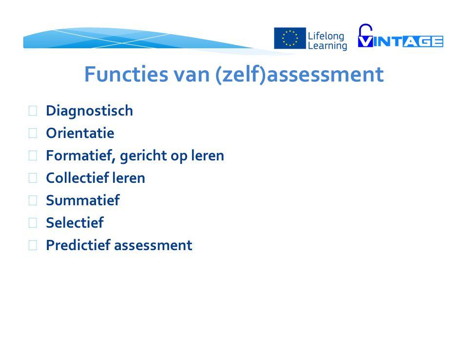 Functies van (zelf)assessment