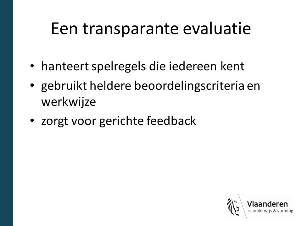 Een transparante evaluatie