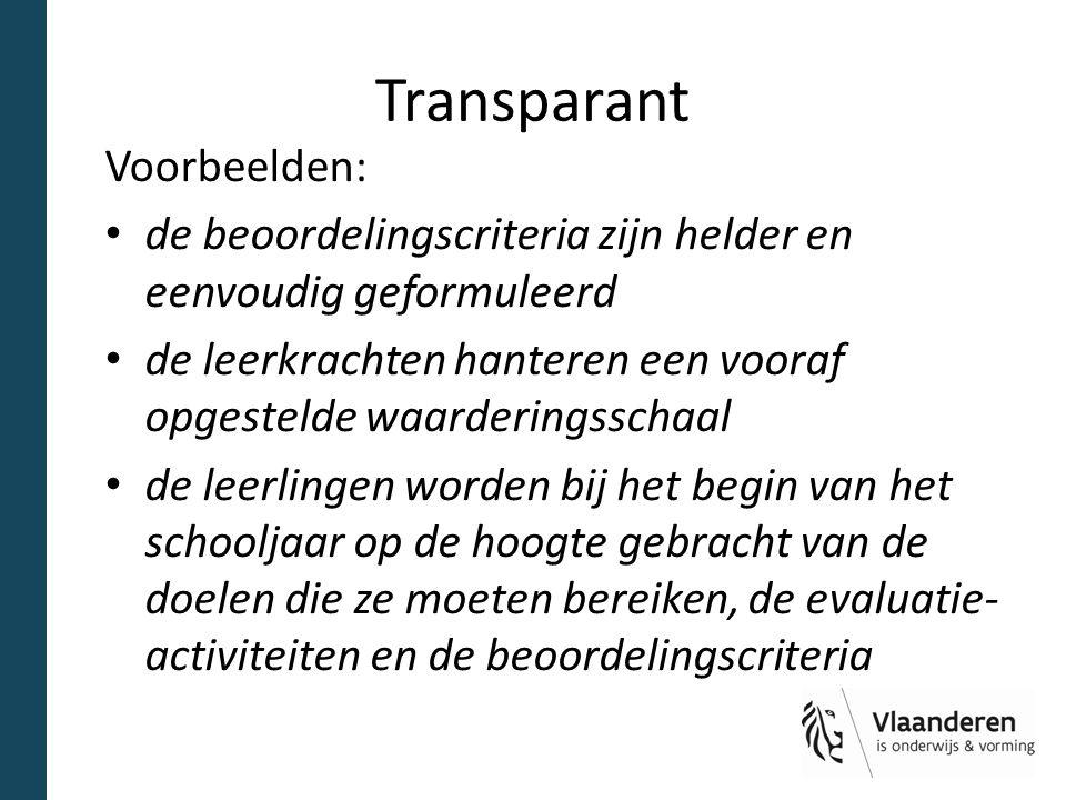 Transparant Voorbeelden: