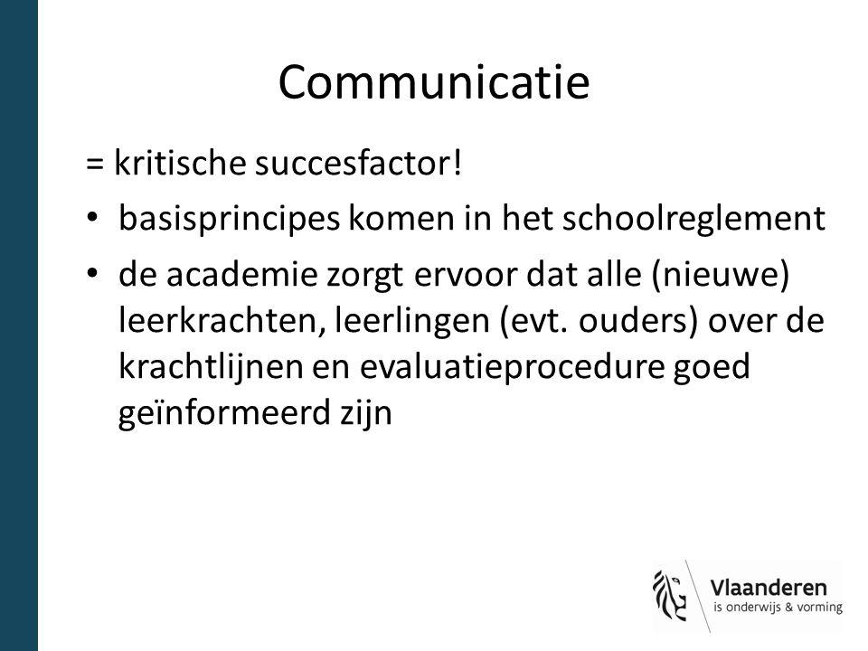 Communicatie = kritische succesfactor!