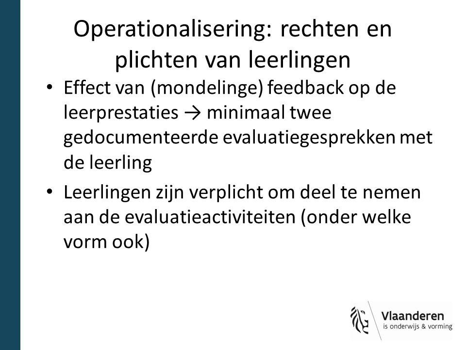 Operationalisering: rechten en plichten van leerlingen