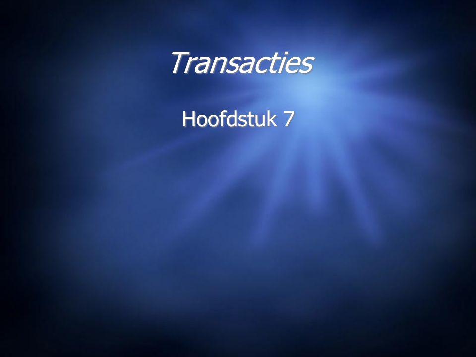 Transacties Hoofdstuk 7