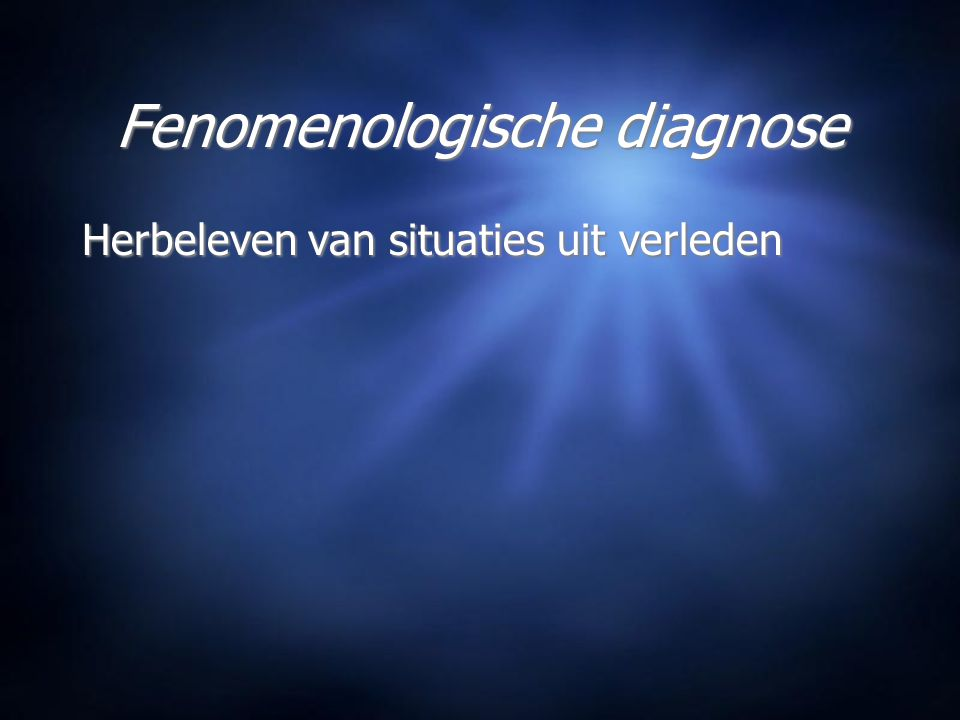 Fenomenologische diagnose