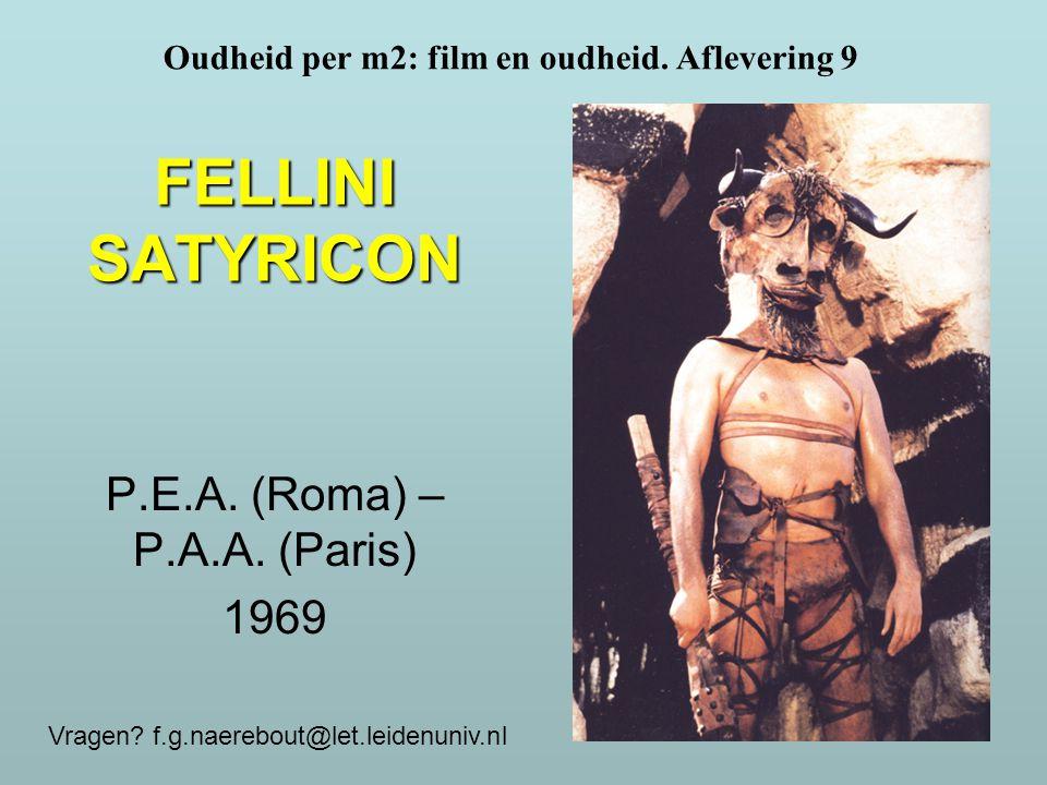 P.E.A. (Roma) – P.A.A. (Paris) 1969