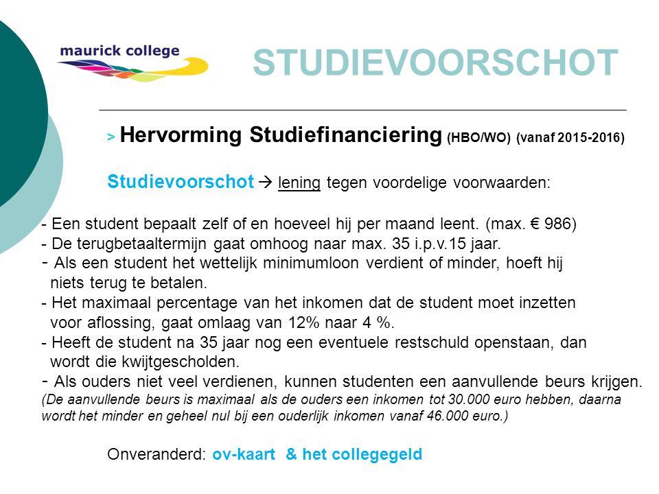 STUDIEVOORSCHOT Studievoorschot  lening tegen voordelige voorwaarden: