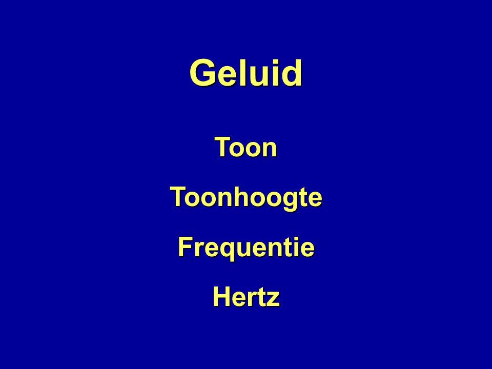 Geluid Toon Toonhoogte Frequentie Hertz