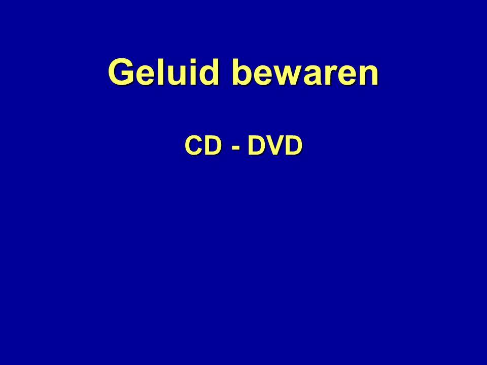 Geluid bewaren CD - DVD