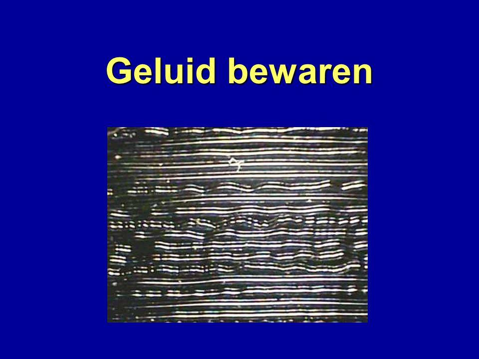 Geluid bewaren Bewaren Grammofoonplaat Slingergroef