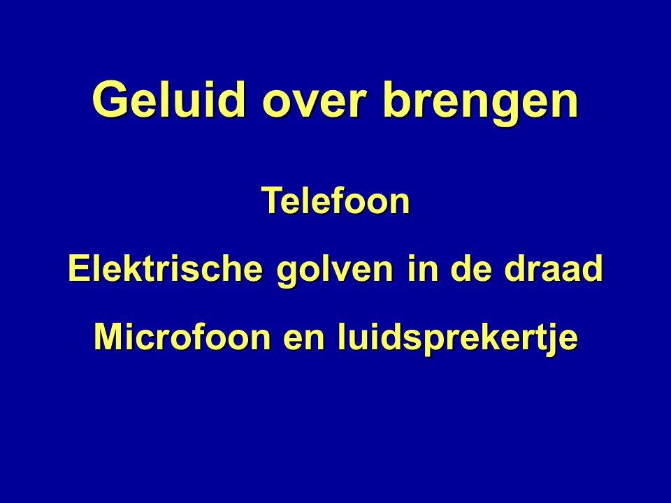 Elektrische golven in de draad Microfoon en luidsprekertje