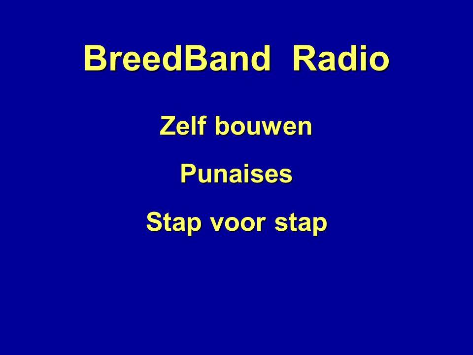 BreedBand Radio Zelf bouwen Punaises Stap voor stap