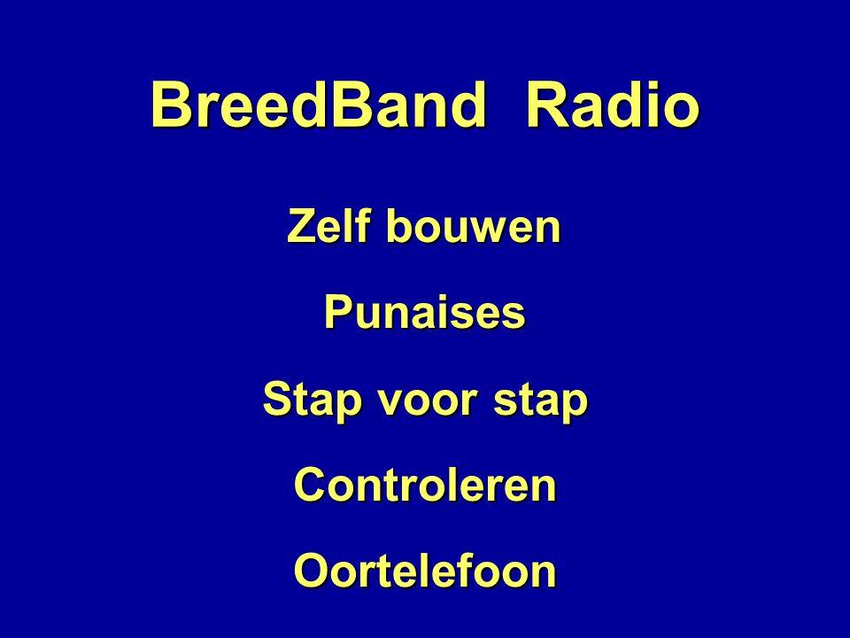 BreedBand Radio Zelf bouwen Punaises Stap voor stap Controleren