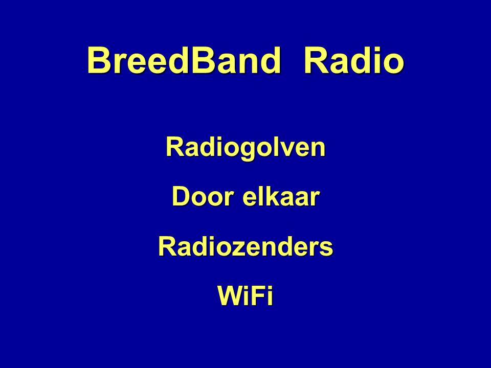 BreedBand Radio Radiogolven Door elkaar Radiozenders WiFi