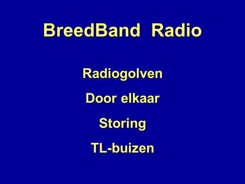 BreedBand Radio Radiogolven Door elkaar Storing TL-buizen