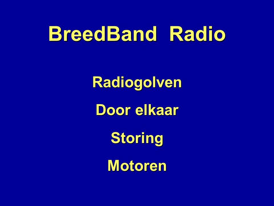 BreedBand Radio Radiogolven Door elkaar Storing Motoren